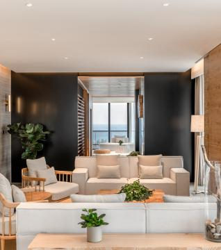 Sky Villa-Living Room on Higher Floor 天际海景复式别墅二层大客厅