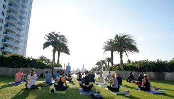 Yoga on the Turf | 1 Hotel South Beach